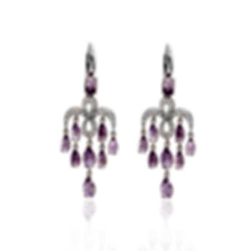 Mimi Milano Angie 18k White Gold Diamond Ct And Amethyst Earrings O383B8ZA