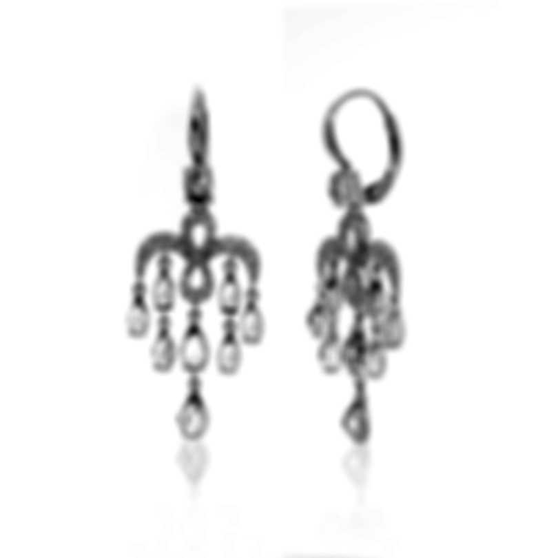 Mimi Milano Angie 18k White Gold Diamond Ct And Topaz Earrings O383B8ZT