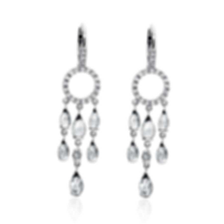 Mimi Milano Angie 18k White Gold Diamond 0.31ct And Topaz Earrings O381B8T1B