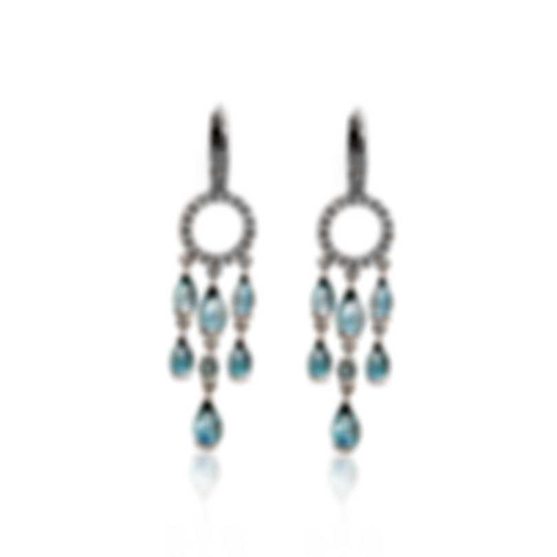 Mimi Milano Angie 18k White Gold Diamond 0.31ct And Topaz Earrings O381B8T5B