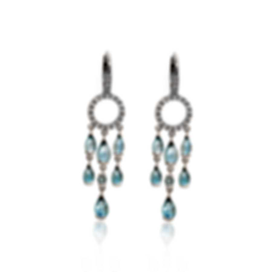 Mimi Milano Angie 18k White Gold Diamond 0.31ct And Topaz Earrings O381B8T5B