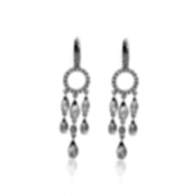 Mimi Milano Angie 18k White Gold Diamond Ct And Topaz Earrings O381B8ZT