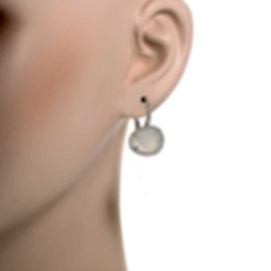 Mimi Milano Talita 18k White Gold Diamond 0.39ct Moonstone Earrings O328B8MSB