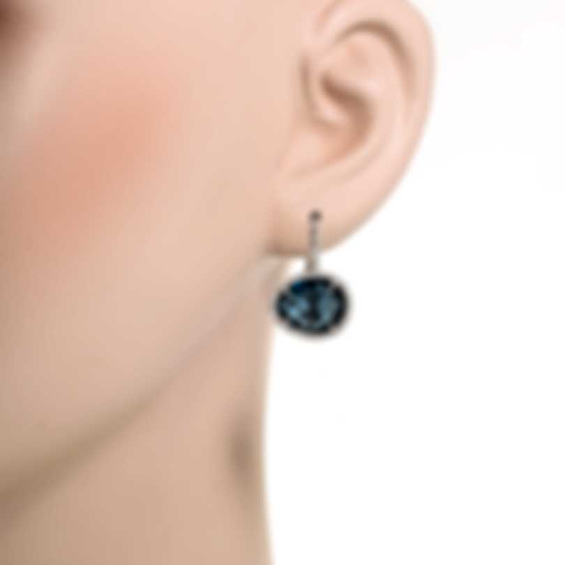 Mimi Milano Talita 18k White Gold Diamond 0.39ct London Topaz Earrings O328B8T5B