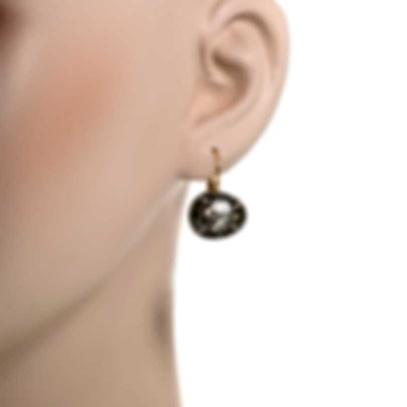 Mimi Milano Talita 18k White Rose Gold Diamond 0.31ct Rutile Earrings O328C8Q5M