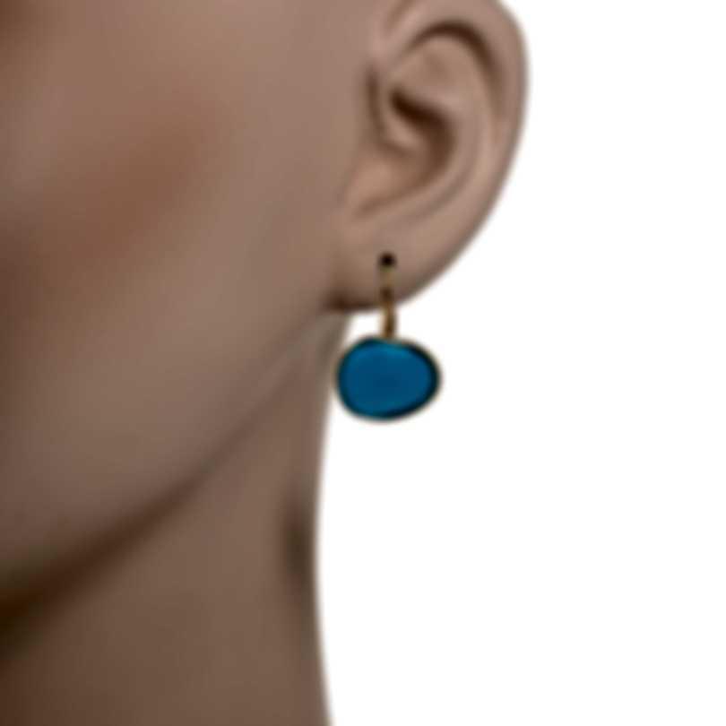 Mimi Milano Talita 18k Rose Gold And Turquoise Earrings O328R819