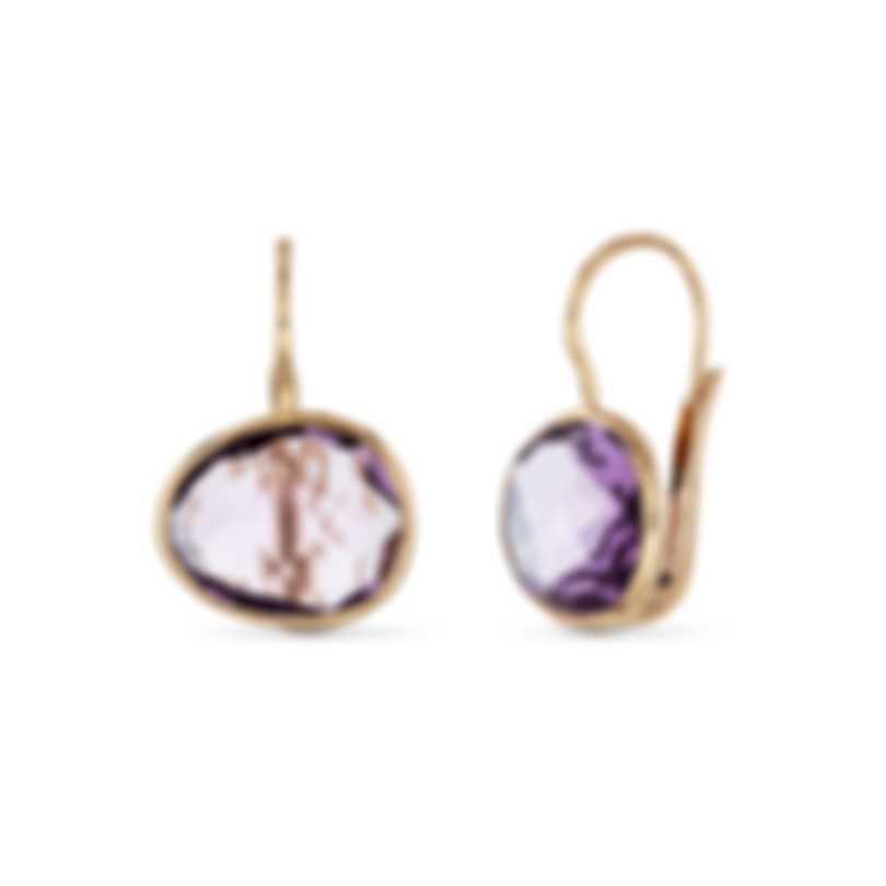 Mimi Milano Talita 18k Rose Gold And Amethyst Earrings O328R8A