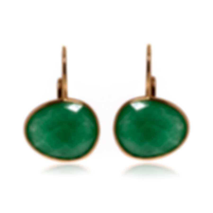 Mimi Milano Talita 18k Rose Gold And Green Jade Earrings O328R8G