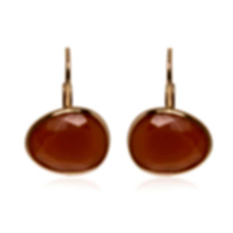 Mimi Milano Talita 18k Rose Gold And Carnelian Earrings O328R8D9