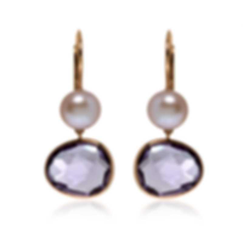 Mimi Milano Talita 18k Rose Gold And Amethyst Earrings O329R3A