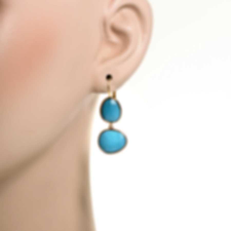 Mimi Milano Talita 18k Rose Gold And Turquoise Earrings O330R819
