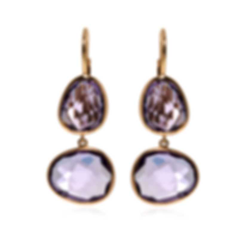 Mimi Milano Talita 18k Rose Gold And Amethyst Earrings O330R8A
