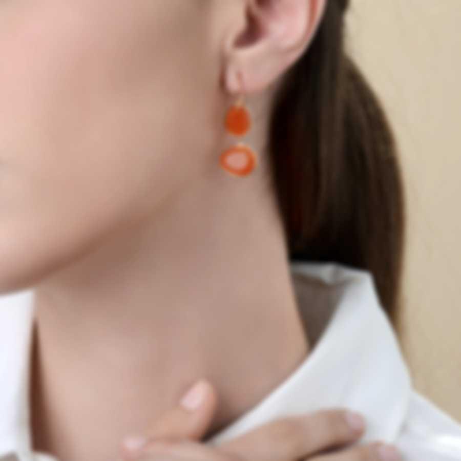 Mimi Milano Talita 18k Rose Gold And Carnelian Earrings O330R8D9