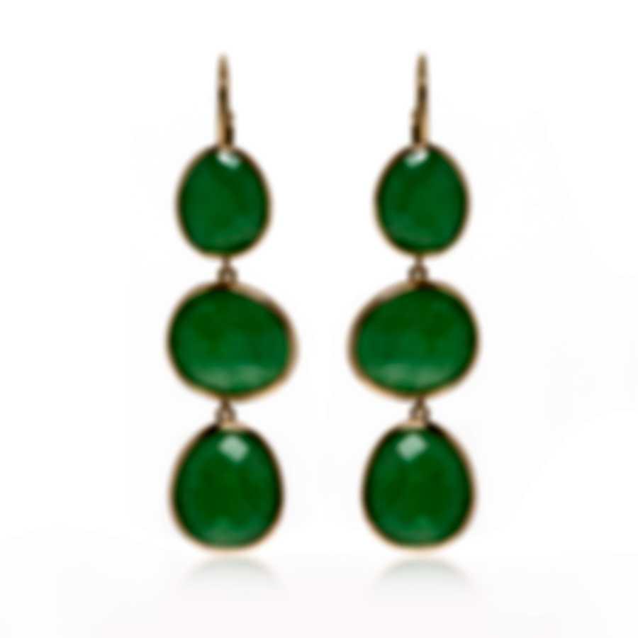 Mimi Milano Talita 18k Rose Gold And Green Jade Earrings O331R8G