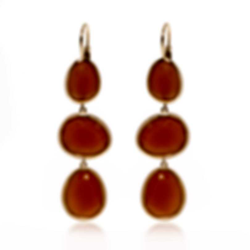 Mimi Milano Talita 18k Rose Gold And Carnelian Earrings O331R8D9
