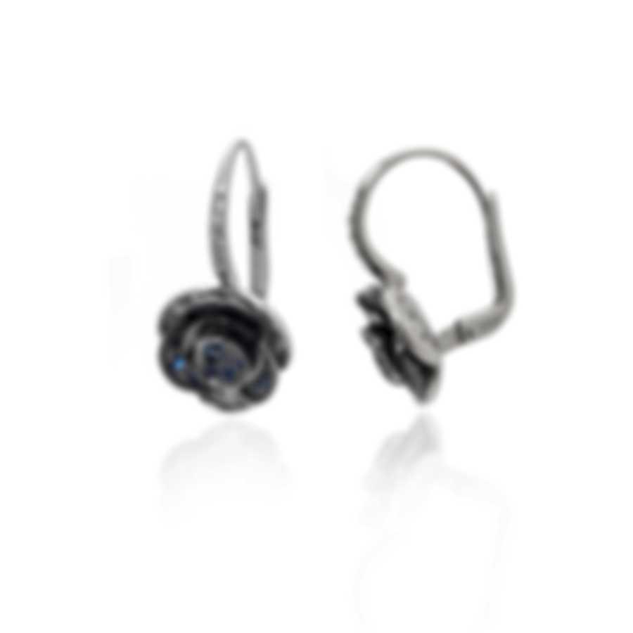 Mimi Milano Rose 18k White Gold Diamond 0.22ct And Sapphire Earrings O449B8ZB