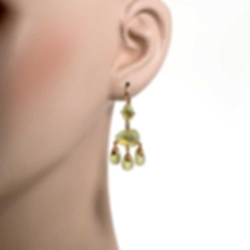 Mimi Milano Mila 18k Rose Gold Diamond 0.08ct And Prehnite Earrings O570R8D7B