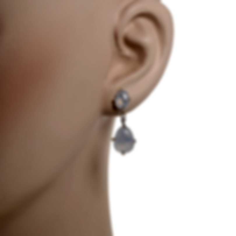 Mimi Milano Mila 18k White Gold Diamond 0.08ct And Chalcedony Earrings O571B8DB