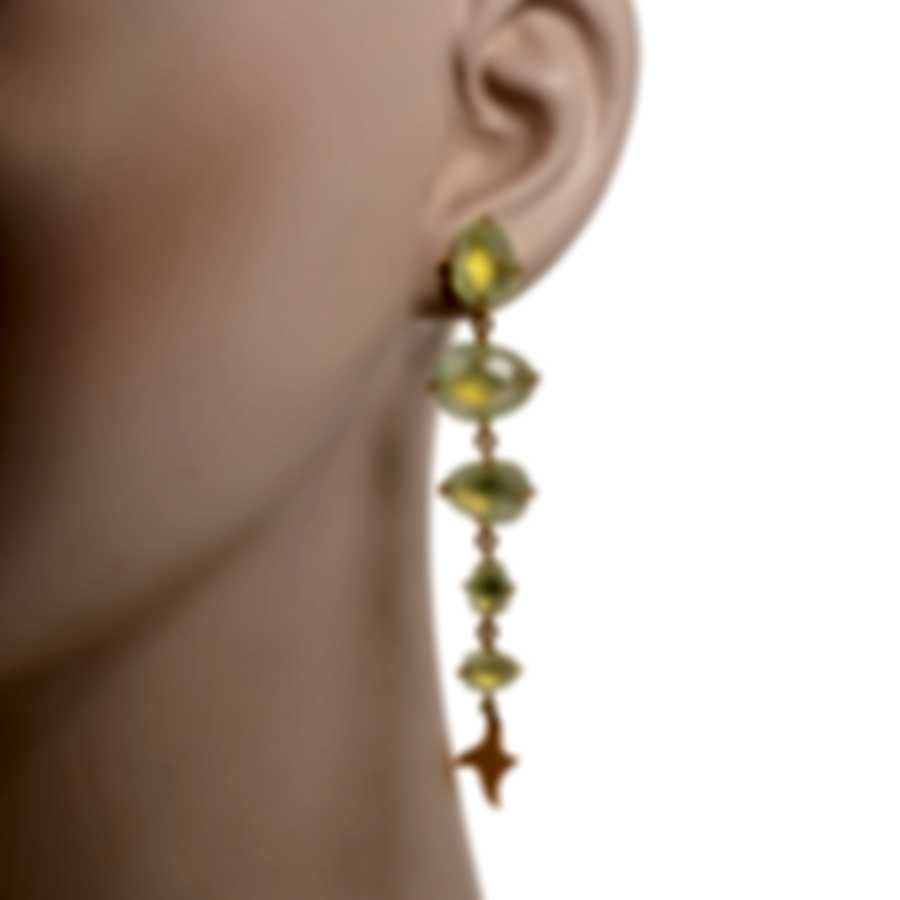 Mimi Milano Mila 18k Rose Gold And Prehnite Earrings O572R8D7