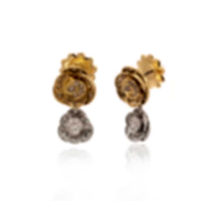 Mimi Milano Rose 18k Yellow & White Gold Diamond 1.82ct Earrings O505C8BZ4