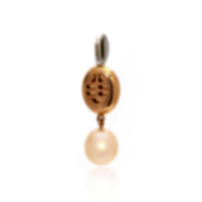 Mimi Milano Leela 18k White & Rose Gold Diamond 0.04ct & Pearl Pendant P323C2CB