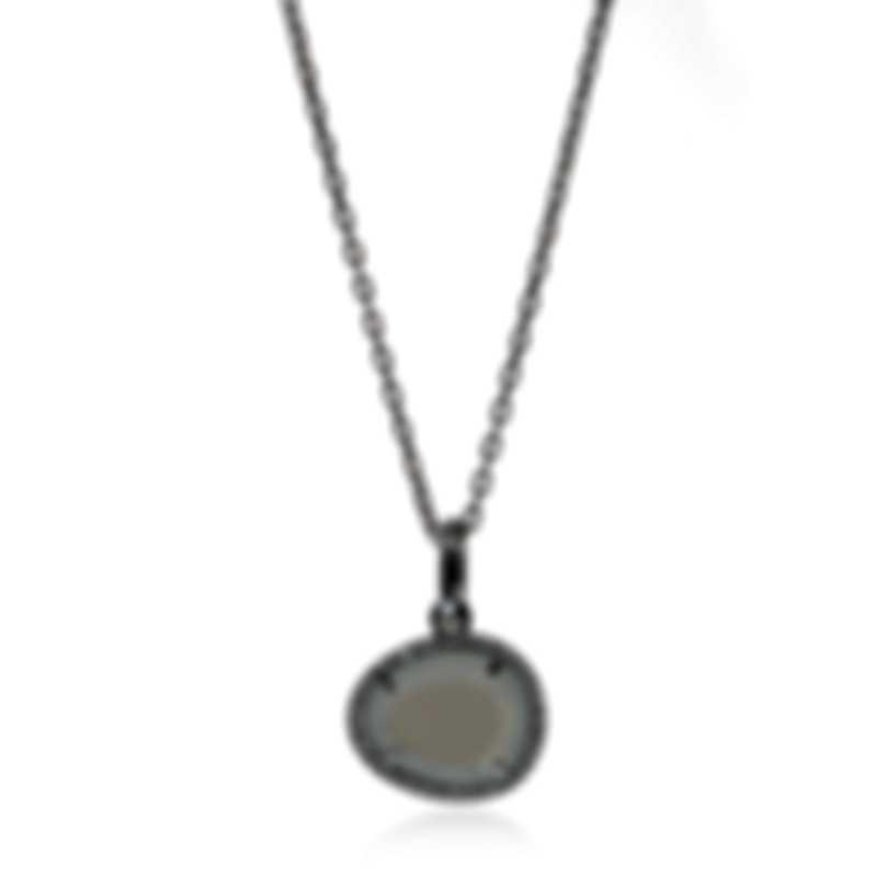 Mimi Milano Talita 18k White Gold Diamond 0.21ct Moonstone Necklace P328B8MSB