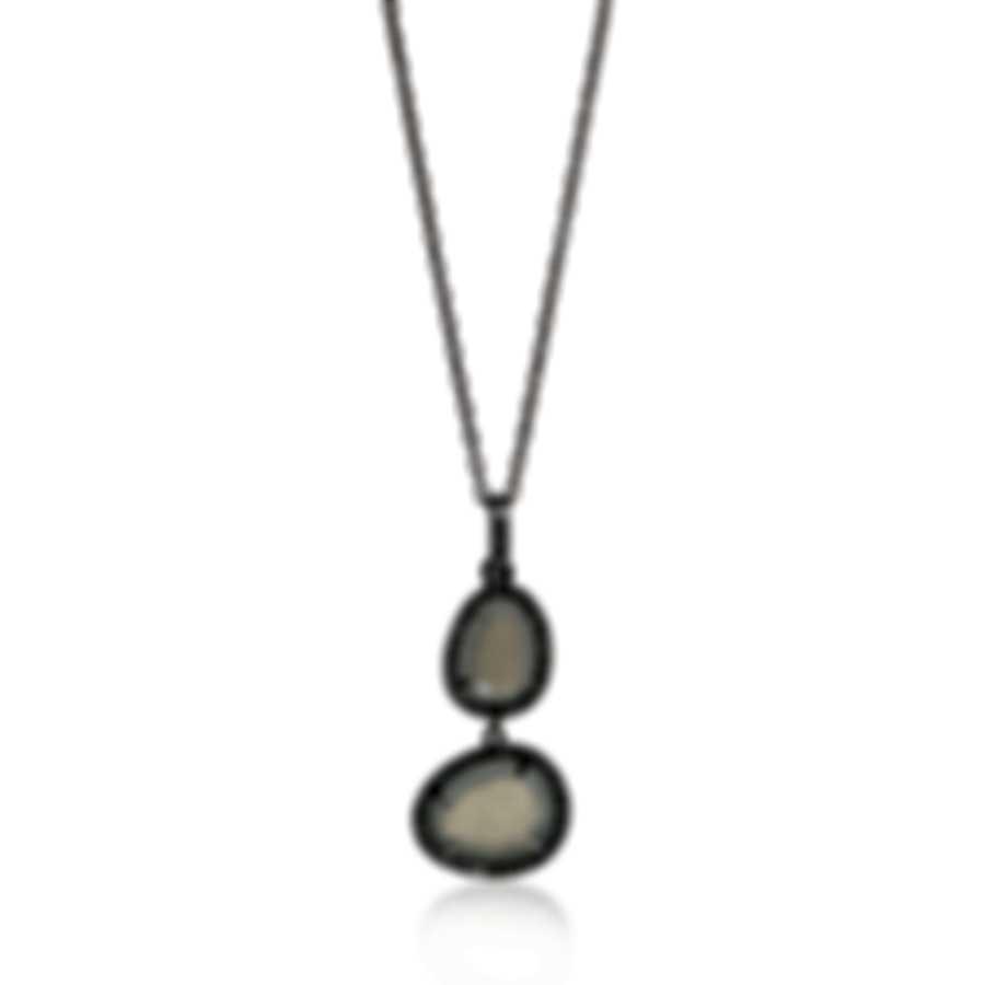 Mimi Milano Talita 18k White Gold Diamond 0.34ct Moonstone Necklace P330B8MSB