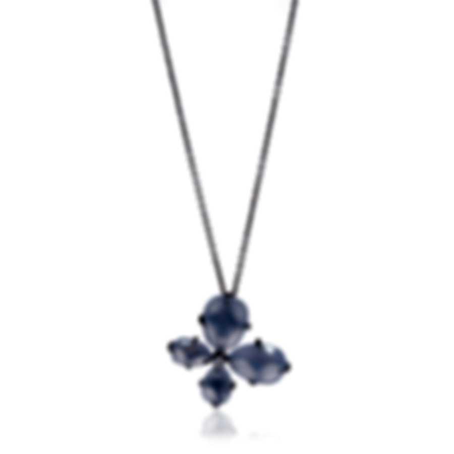 Mimi Milano Mila 18k White Gold Diamond 0.04ct And Chalcedony Necklace P577B8DB