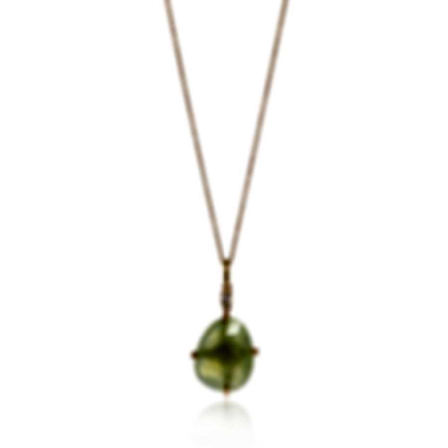 Mimi Milano Mila 18k Rose Gold Diamond 0.04ct And Prehnite Necklace P576R8D7B