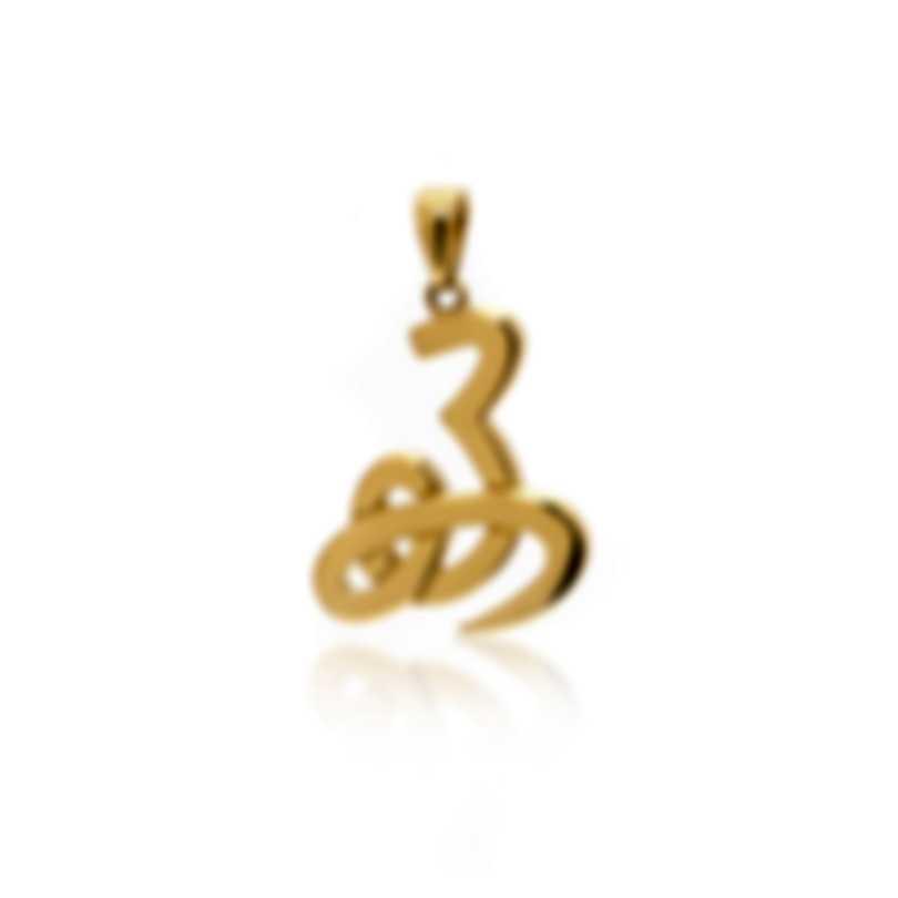 Mimi Milano Ideogrammi 18k Yellow Gold Pendant PG30AZZ