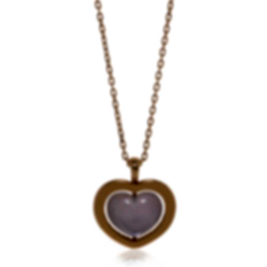 Mimi Milano Giulietta E Romeo 18k Rose Gold And Amethyst Necklace PLM308R8A-1