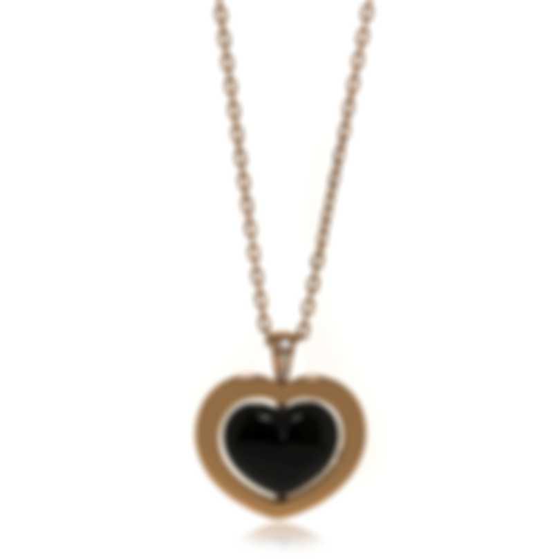 Mimi Milano Giulietta E Romeo 18k Gold Diamond 0.02ct Onyx Necklace PLM308R8OB