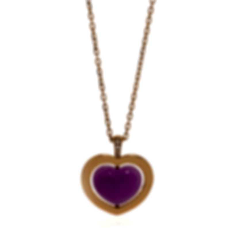 Mimi Milano Giulietta E Romeo Gold Diamond .02ct Quartzite Necklace PLM308R8Q10B