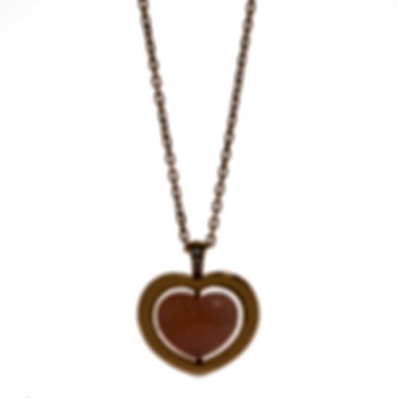 Mimi Milano Giulietta E Romeo Gold Diamond .02ct Quartzite Necklace PLM308R8Q2B