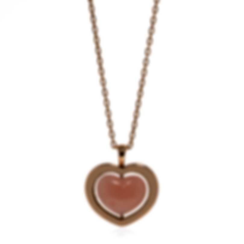 Mimi Milano Giulietta E Romeo 18k Rose Gold Rose Quartzite Necklace PLM308R8Q2