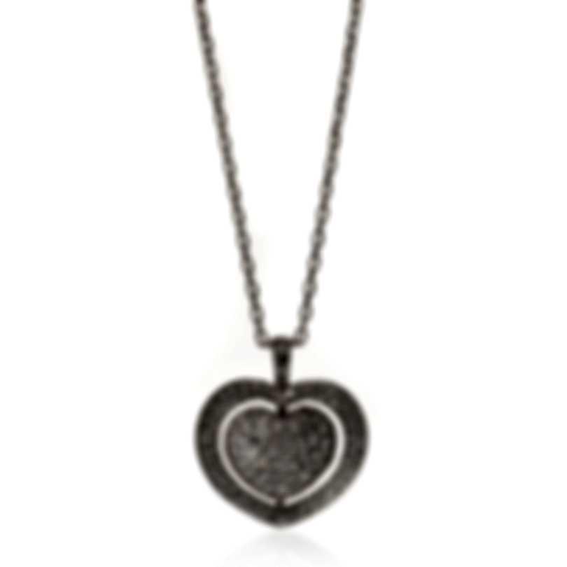 Mimi Milano Giulietta E Romeo 18k White Gold Diamond 1.15ct Necklace PLM331B8B