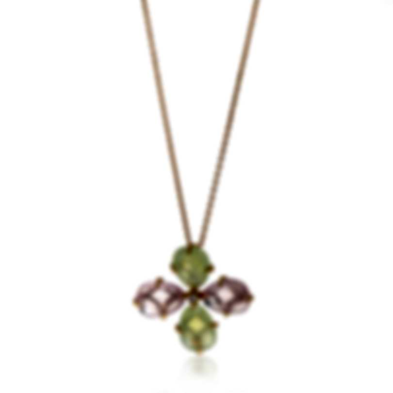Mimi Milano Mila 18k Gold Diamond 0.04ct And Rose Quartz Necklace PX900R8QD7B