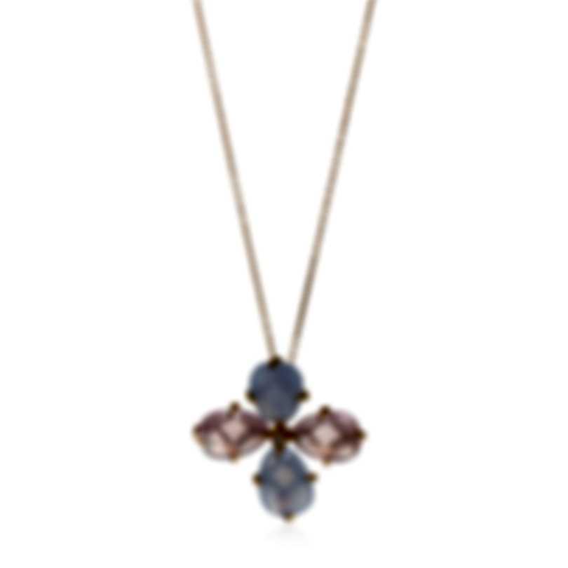 Mimi Milano Mila 18k Rose Gold Diamond 0.04ct And Calcedony Necklace PX900R8QDB