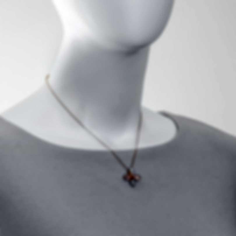 Mimi Milano Mila 18k Rose Gold Diamond 0.04ct And Calcedony Necklace PX901R8XB