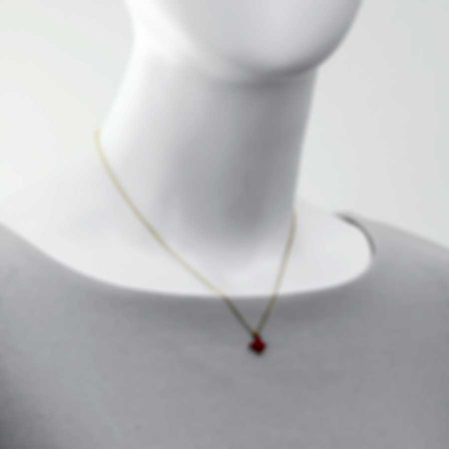 Mimi Milano Freevola 18k Yellow Gold And Coral Paste Necklace PXM242G8P8