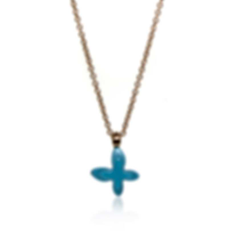 Mimi Milano Freevola 18k Rose Gold And Turquoise Paste Necklace PXM242R8P19