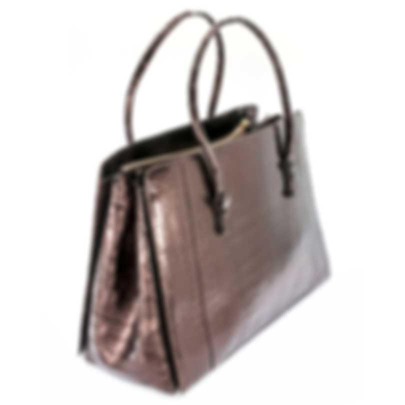 Nancy Gonzalez Resort 2020 Copper Crocodile Handbag CR145012-DE1