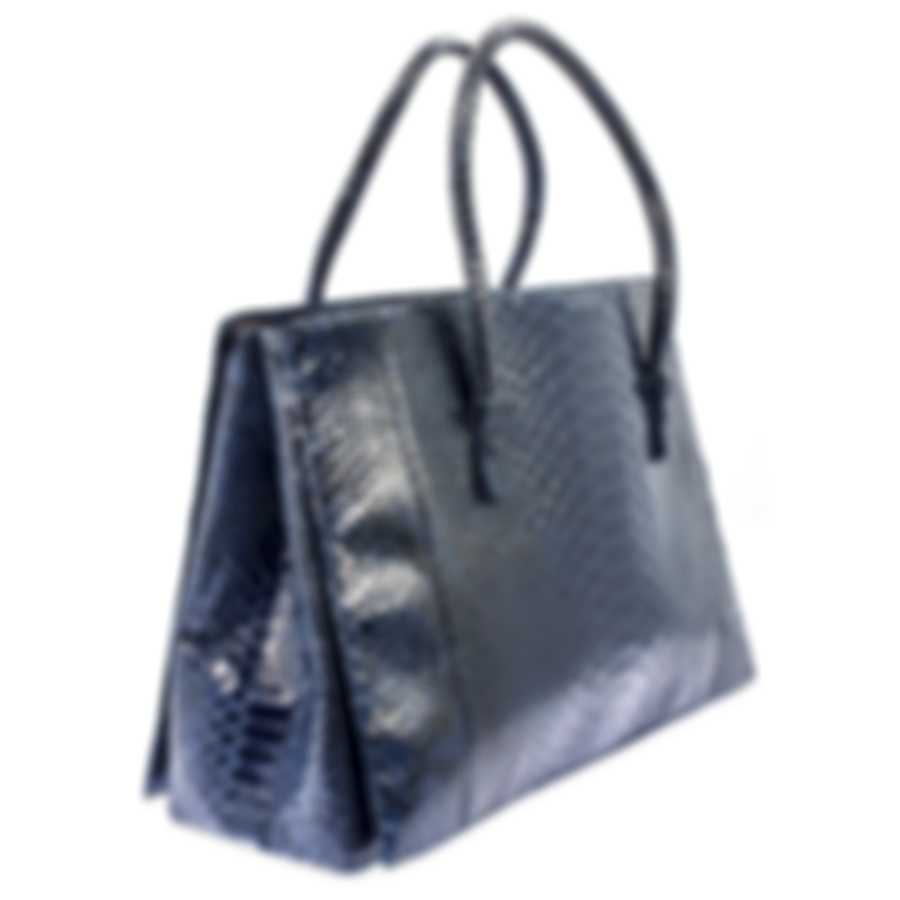 Nancy Gonzalez Resort 2020 Navy Python Handbag CR145012-PY748