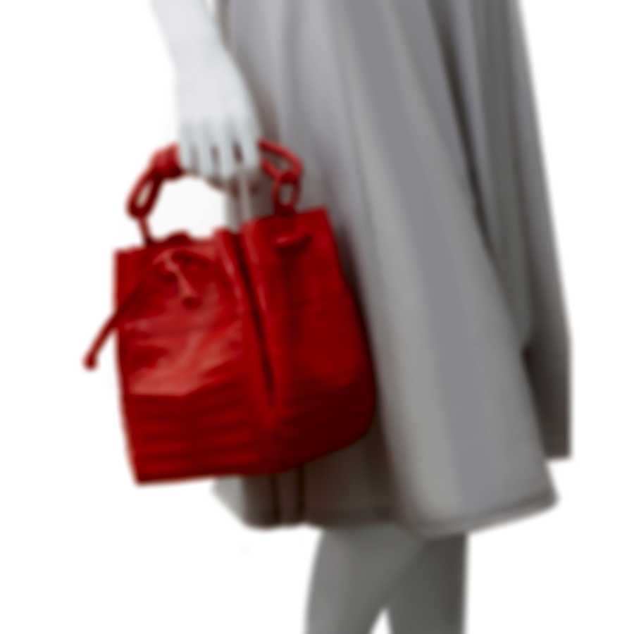 Nancy Gonzalez Orange Snakeskin & Suede Handbag CR206108-01-JJ1