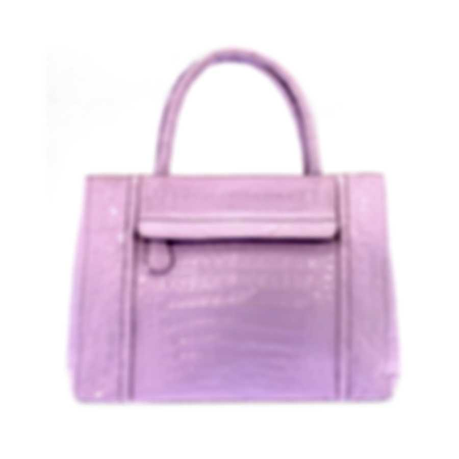 Nancy Gonzalez Resort 2020 Pink Crocodile Handbag CS114029-AC9