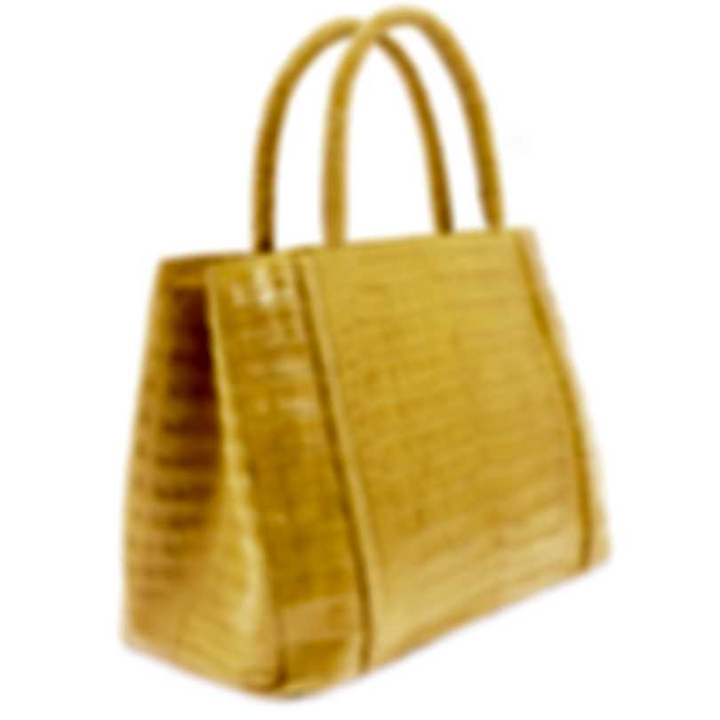 Nancy Gonzalez Resort 2020 Yellow Crocodile Handbag CS114029-DB3