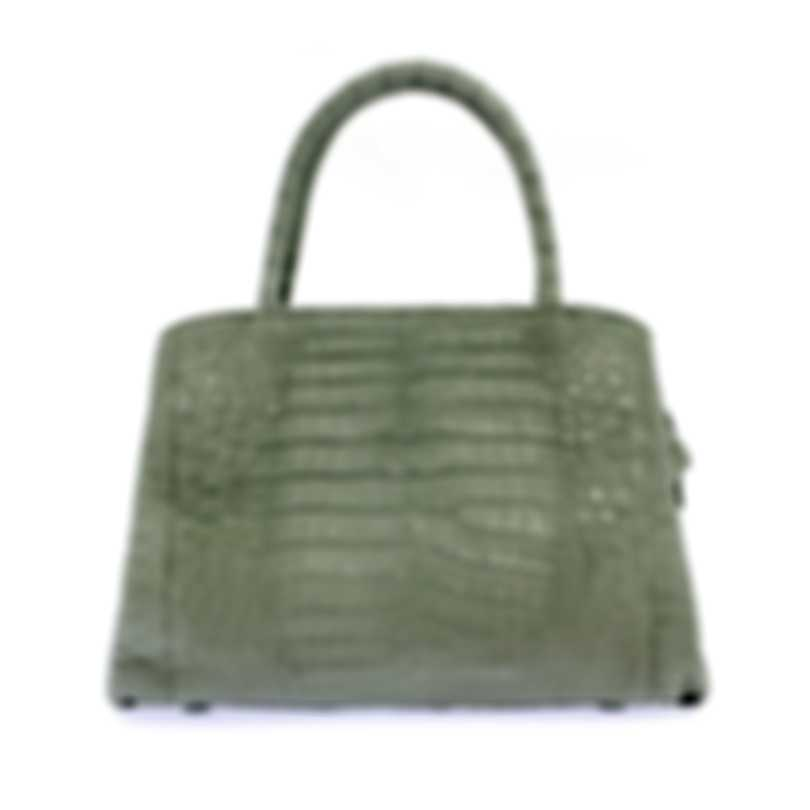 Nancy Gonzalez Resort 2020 Grey Crocodile Handbag CS134763-XG4