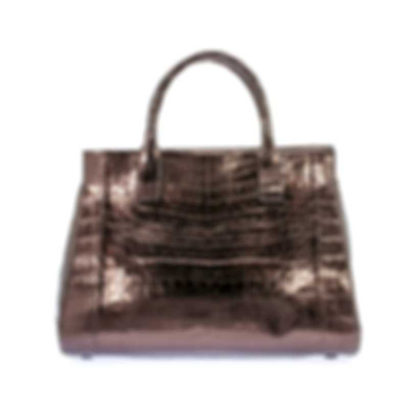 Nancy Gonzalez Resort 2020 Copper Crocodile Handbag CS155275-DE1