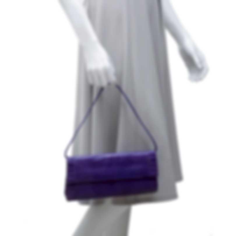 Nancy Gonzalez Cool Purple Crocodile & Suede Gotham Clutch CW93479NA-01-XB1-1