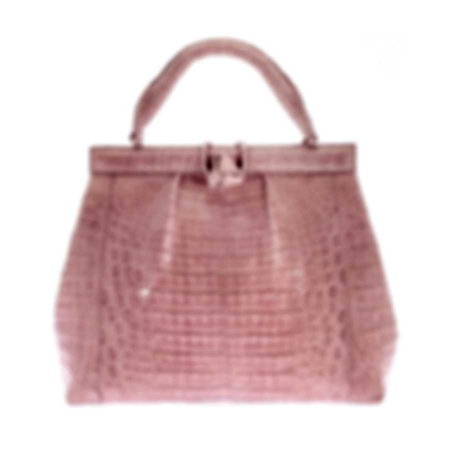 Nancy Gonzalez Women's Resort 2020 Crocodile Knot Lady Bag CW103511-DB5
